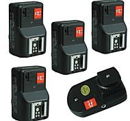 WanSen PT-04GY PT-04 4 canali wireless / Radio Flash Trigger Set di 4 ricevitori spedizione gratuita + Tracking