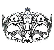 Sweet Princess Style Black Metal Halloween Masquerade Mask
