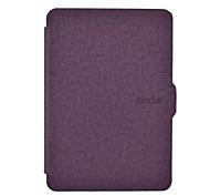 oso tímido ™ excelente caso de la cubierta de cuero de tacto manual para amazon kindle paperwhite 6 pulgadas ebook