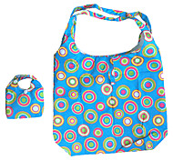 Eco-Friendly Colorful Circle Pattern Folding Shopping Bag