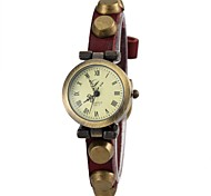 Women's Fashion Style  Leather Band  Wrist Watch(Assorted Colors)
