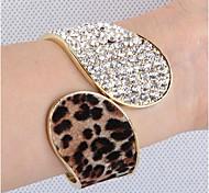 Fashion 5.7cm Women's Black Brown and Silver Alloy Bracelet
