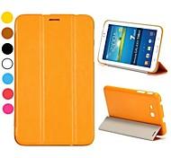 elegante flip tri-fold stand auto slaap / waak-up lederen tas voor Samsung Galaxy Tab 3 lite T110 / T111