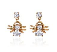 novo ouro 18k das mulheres banhado de venda quente da moda aranha brincos forma de zircão erz0102