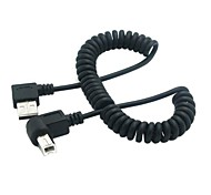 Right Angled USB 2.0 A Male to B Angled Male 90 degree Stretch Cable for Printer Scanner & Hard Disk 1.5M 5FT
