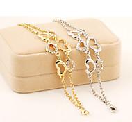 Xu™ Women's Heart To Heart With Diamond Bracelet