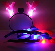 Coway Luminous Deer Long Jiao Chirstams Halloween Party Supplies Hezdbands(Random Color)