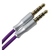 3 фута Лонг 3,5 мм AUX Вспомогательное мужчинами стерео аудио кабель-удлинитель адаптер