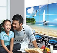 Doudouwo® Landscape The Seabeach Anti-Oil Wall Stickers