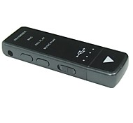 Voice Recorder with MP3 Music Player - Plastic  (4GB)
