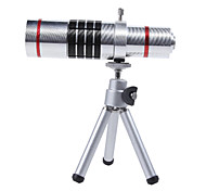 Aluminum Alloy 18X Telephoto Zoom Lens Set for SAMSUNG  S3- Silver