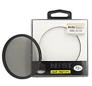 lente de filtro polarizador circular ultra delgado de 72 mm nisi pro cpl