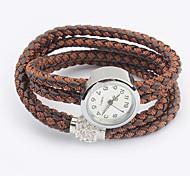 pulsera de reloj de la cuerda de cáñamo de la vendimia de las mujeres