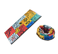 BOODUN Abstract Painting Multi-Functional Seamless Polyester Spandex Magic Scarf Headband