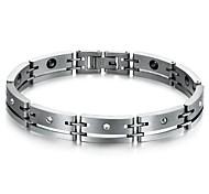 bracelet noir biliaire ensemble de fatigue vis en acier de titane homme de soins