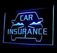 Car Insurance Advertising LED Light Sign