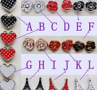 Fashion Beautiful Flower Heart Pyramid Plating Stud Earrings