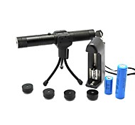 LT-0683 Five In One Adjustable Focus Burning Lighter Cutting Green Laser Pointer Kits(1mw,532nm,1xCR18650)