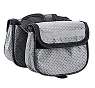NUCKILY 600D Gray Bicycle Frame Bag with Mobile Phone Bag