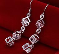 Ohrring,Tropfen-Ohrringe versilbert,Schmuck 2 Stück Silber