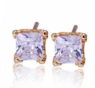 Women Fashion Crystal Temperament Earrings Stud Earrings
