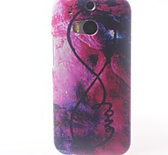 Letter Printed Pattern PC Hard Case for  HTC M8