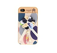Korean Version Cloth Flowers Series Style Blue and White Flowers Hard Back Case for iPhone 4/4S