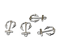 terceiro estilo vintage feitos à mão diy pequeno barco âncora de prata jóia da liga accessoris (10pcs)