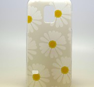 Ondulado Flores florales de plástico duro para el mini Galaxy Samsung S5