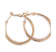 nuovo oro delle donne 18k di vendita caldo di modo orecchini a cerchio elegante