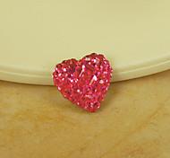 Women's Red Heart Magnet Cilp Earrings