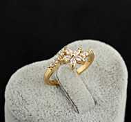 Women's Fashion Flower Shape Design 18K Gold Plated  Rings