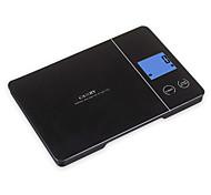 Balanza de cocina electrónica 5kg/11lb lcd con 3 mm de vidrio templado de pesaje botón plataforma y toque