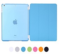 Natusun™ Coque Slim Transparente Amovible + Smart cover - PU cuir - Ipad Air