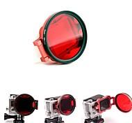 58mm de corrección de color del filtro de buceo bajo el agua del filtro w / convertidor de tirón para Hero GoPro 3+