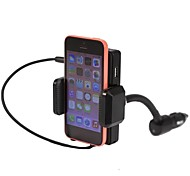 Universal Rotatable Fm Transmitter with Holder and Charging Feature for iPhone 5 and others(5V/0.5A)