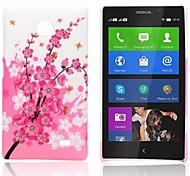 Caso Pink Pattern Fiore gommato duro per Nokia X X +