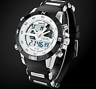 Men's Watch Sports Multi-Function Dual Time Zones Water Resistant Cool Watch Unique Watch