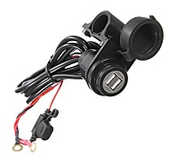 Car Motorcycle Boat Waterproof Dual USB Power Port charger adapter