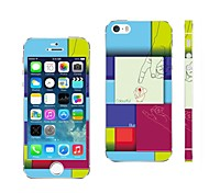 AIKUSU® Mixed Color Design Cellphone Skin Sticker Cover for iPhone  5/5S