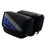 RONGRUIHR 5.0 Inch 1680D Oxford Fabric Blue and Black Waterproof Wearable Cycling Frame Bag with Reflective Stripe