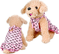 Elegant Cute Bowkonts Pattern Dress for Pets Dogs (Assorted Sizes)