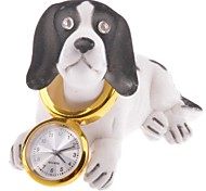 Novelty Shaking Head Dog Tabletop Mini Clock (1 x AG5 Battery)