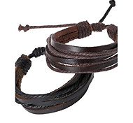 Personality Woven Leather Bracelet Jewelry