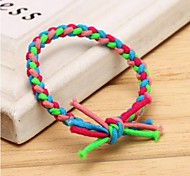 Hand-woven Fluorescent Color Elastic Hair Ties
