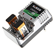 Kongin Battery Charger for AA/AAA/9V/Ni-MH/Ni-Cd with EU Plug(Included 2xBP9V300)