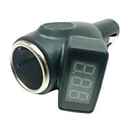 12V/24V digitale Batteria Meter Volt Con una sigaretta dell'automobile