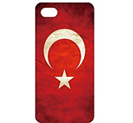 Vintage Turkey Flag Pattern PC Back Case for iPhone 5