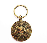 Vintage Pirate Coin Bronze Alloy Keychain(1 Pc)