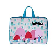 15.4 inch  Sky Blue Mushroom Color Laptop Case  for All Notebook